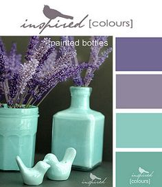Inspired Colors - Painted Bottles | by inspired by...
