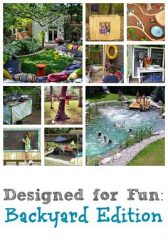 """Whether your yard is big or small, full of kids or full of adults, weve got you covered! Check out lots of ideas for making your backyard more fun at Remodelaholic."" Totally checking this out for ideas on for the yard Backyard Play, Backyard For Kids, Backyard Projects, Outdoor Play, Outdoor Projects, Outdoor Living, Backyard Ideas, Kids Yard, Desert Backyard"