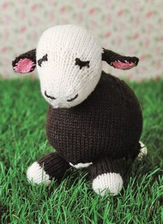 Free Knitting Pattern for Cow Toy - Toy softie 8″ tall, 4.5″ wide, 5″ long. Designed bySusan B. Anderson and excerpted with permission fromSpud & Chloë at the Farm at Canadian Living.