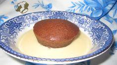 Chocolate pudding with custard