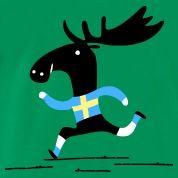 Der Elch Sinnbild der Schweden - Kultur. Der Elch, das Nationalsymbol der Schweden auf deinem Schwedenfan t-shirt.