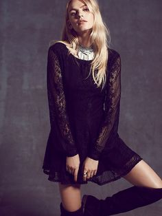 Lolo Lace Fit and Flare Dress by Free People Online | Bluesky | Free Shipping Australia