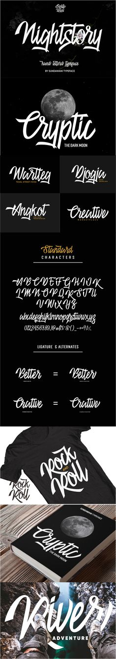 Nightstory Typeface - Script Fonts