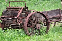 Abandoned Old Manure Spreader Found In The Missouri Ozarks.  Photo credit:  Mary Koch.