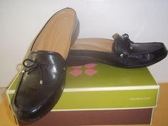 26b29acf645 Women s NATURALIZER Karelia Black Leather Loafer Mules Comfortable Shoes   69!  fashion  clothing