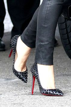Louboutin spiked heels