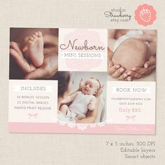 Newborn Mini Session Template Newborn by StudioStrawberry on Etsy