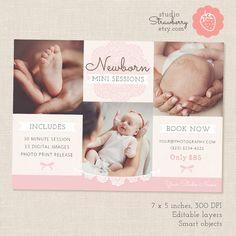 Newborn Mini Session Template Newborn by StudioStrawberry on Etsy