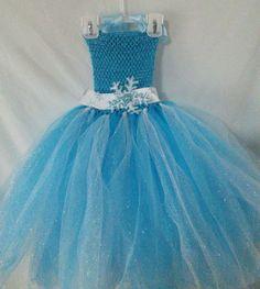 Elsa Frozen inspired Girl Tutu Dress - has cape add on for $10