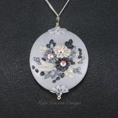 Through The Fog Necklace, Polymer Clay. $65.00, via Etsy.