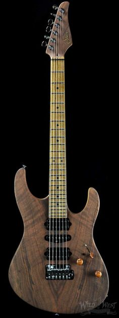 Suhr Custom Modern Satin Claro Walnut w/ Swamp Ash Body and Zebrawood Neck