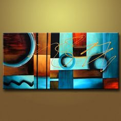 """Universe of goods - Buy """"big HandPainted Abstract Golden abstract Oil Painting on Canvas Wall Art classical painting Living Room Bedroom Wall Decoration """" for only 34 USD. Abstract Canvas Wall Art, Oil Painting Abstract, Oil Paintings, Painting Canvas, Indian Paintings, Diy Canvas, Acrylic Paintings, Watercolor Painting, Landscape Paintings"""