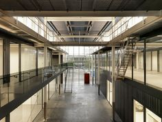 Industrial palette but ALSO clean and refined. (Boiler House Ceres / diederendirrix architects)