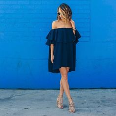 Off the shoulder dressing is key this summer #AsSeenOnMe
