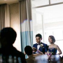 大好きなゲストと青色に囲まれて*アニヴェルセルみなとみらいでの結婚式 |*ウェディングフォト elle pupa blog*