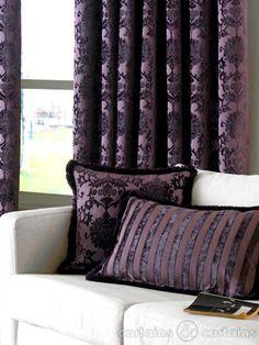 Dulux Luxury Heavy Velvet Purple Pencil Pleat Curtain