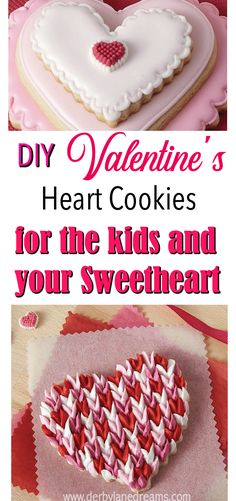 Valentine's Day Ideas for boyfriend, husband, kids. Easy, DIY Heart Cookies that everyone will love! Plus, 4 Free Printable Valentine's art prints to share. #valentinesday #diy #food #desserts #sweets #easy #fun #cookies