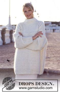 """DROPS oversized genser i """"patent"""" og med raglan i """"Lima"""" ~ DROPS Design"""