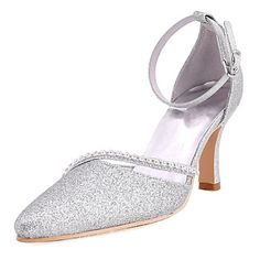 Satin Wedding Women's Stiletto Heel D'Orsay & Two-Piece Heels Shoes(More Colors) – USD $ 54.99