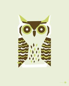"""""""Horned Owl"""" - canvas wall art at Wheatpaste Art Collective"""