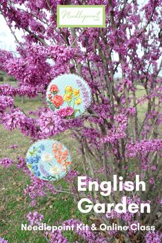 We love the detail in these English Garden needlepoint rounds. Check out our beginner, intermediate, and advanced English Garden needlepoint kits and classes! Needlepoint Designs, Needlepoint Kits, Needlepoint Canvases, Advanced English, Embellishments, Detail, Garden, Outdoor Decor, Check