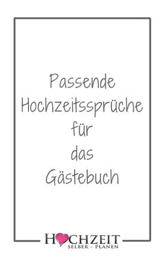 : Matching wedding sayings for the guest book Passende Hochzeitssprüche für das Gästebuch A beautiful tradition, which is maintained almost at all weddings, is the laying out of a guest book, in which all present. In this way, the bride and groom get a n Wedding Quotes, Wedding Guest Book, Wedding Music, Gold Book, The Bride, Quotation Marks, Wedding Matches, Engagement Ring Cuts, Wedding Beauty