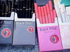 Pink Cigarettes บุหรี่สีชมพู บุหรี่หลายสี หลายี่ห้อ โอ้ว - ภาพอาร์ต การ์ตูน แนวๆ
