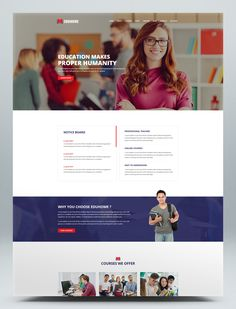 Education HTML Website Template Html Website Templates, Online Courses, Education, Design, Onderwijs, Learning