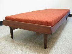 modernhause mid century modern danish scandinavian vintage furniture bench daybed