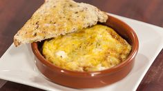 Baked Eggs with Avocado, Corn and Feta