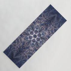 Snowy winter night mandala Yoga Mat by Coleggenna Winter Night, Floral Tie, Mandala, Yoga, Lifestyle, Mandalas
