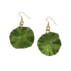 Amazon.com: John S Brana Green Anodized Aluminum Lily Pad Earrings: Jewelry