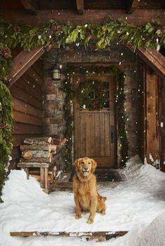 A gorgeous Montana guest house is dressed with lush forest greens, transforming the wintery space into a subdued holiday wonderland.