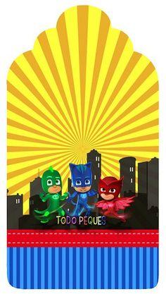 """La temática """"Héroes en Pijamas"""", o """"Pj Masks"""" ha llegado a Todo Peques. Hoy podrás obtener este nuevo Kit imprimible para descargar gratis, el que tiene a los super héroes y… Ben Y Holly, Pj Mask, Cute Disney Wallpaper, Mask Party, Lego Marvel, Party Printables, 5th Birthday, Party Themes, Party Ideas"""