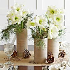 originelle Blumenvase Tischdeko Weihnachten