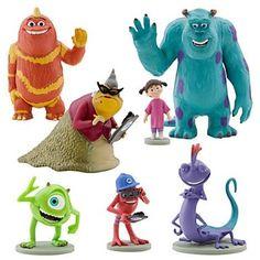 Amazon.com: Disney Monsters Inc. Figure Play Set 7 Piece PVC Cake Topper: Toys & Games