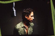 Chris Cornell in studio  -soundgarden