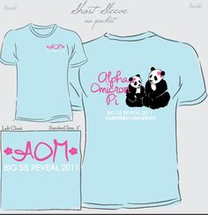 Lilly Pulitzer pandas on our big little shirt. 1/2 color options