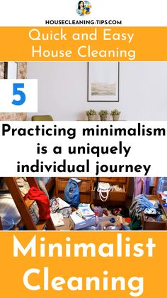 Try Practicing Your Own Version of Minimalism and Create a Home That Is Quick and Easy To Clean #minimalistcleaning Clean House, Minimalism, Cleaning, Create, School, Easy, Organize, Household, Hacks