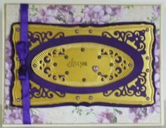 Made for Paper - Designs by Lis: Lavender Lace Card with Suede Paper