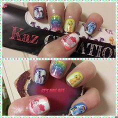 "Shop it: https://loox.io/p/EJjoaur5l?ref=loox-pin | ""Some Fun nails from the Lovely kaz Creations My Little Pony Decals, they look great and go on so easily i love them  i also used Kaz Creations Plush Pink for my base on Pinkie Pie, Kaz Creations Pixie Purple . i love this Mani...."" -Jo  H. #Women #Beauty #Nails"