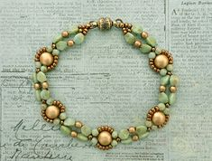 Linda's Crafty Inspirations: Bracelet of the Day: Bubble Band - Mint Picasso