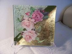 piatto vetro con foglia oro-by Cristina