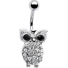 Owl Belly Button Ring