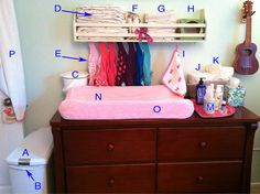 Everything You Need to Set up a Cloth Diaper Changing Station. gDiapers. Hybrid diapers. Great tips.