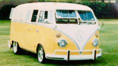 1966 13 window micro bus laying on FUCHS 16 X 8 in rear and early 6's up front at the SOTO meet mid 80's