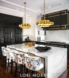 Luxury kitchen enhancementsIt's just all-natural to wish to include some luxury products to your kitchen style. Home Decor Kitchen, Kitchen Interior, Gold Kitchen, Kitchen Ideas, Kitchen Black, Art Deco Kitchen, Kitchen Prints, Kitchen Pendants, Luxury Kitchens