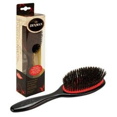Denman Small Natural Boar Bristle Grooming Hair Brush, BLACK, P082SBLK - Walmart.com