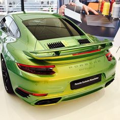"Many readers couldn't believe the ""close to six figures"" statement regarding the price of the Phyton Green ""Chromaflair"" paint on this Turbo S. Swipe right for the proof, thanks to reader @jcaobs. €82,645. For this car, the CXX options (special wishes requiring custom tailoring) alone total over €107k. The car is already on display at the Porsche Exclusive Manufaktur booth at the Nürburgring for the AvD-Oldtimer-Grandprix. Local readers should certainly check it out and share with us your…"