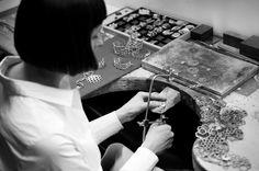 Anna Orska preparing new collection APIS in her studio in Poznań.  Foto.: Aga Szenrok  #workinprogress